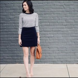 J. Crew black corduroy skirt